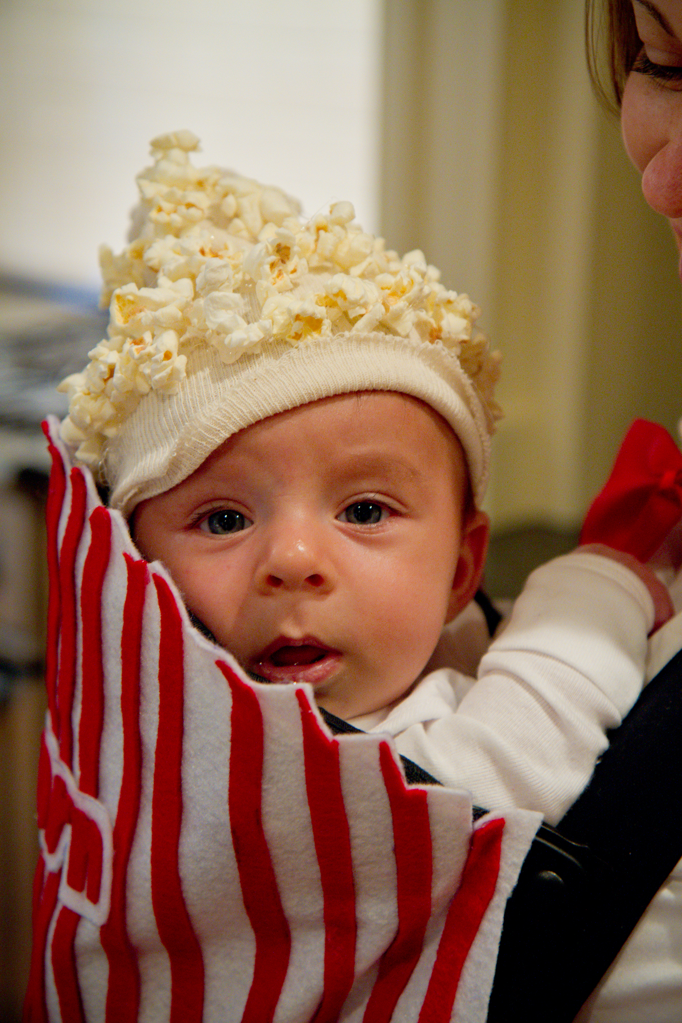 baby in popcorn box costume