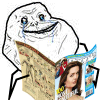 Forever Alone guy reading People magazine