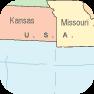 USA map -  clip